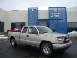 2006 Silver Birch Metallic Chevrolet Silverado 1500 LT Extended Cab 4x4 #26355634