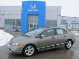 2007 Galaxy Gray Metallic Honda Civic EX Sedan #26355953