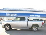 2009 Bright Silver Metallic Dodge Ram 1500 SLT Quad Cab 4x4 #26355878