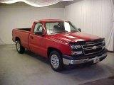 2006 Victory Red Chevrolet Silverado 1500 LS Regular Cab #26399324