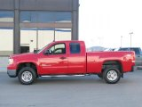 2007 Fire Red GMC Sierra 2500HD SLE Extended Cab 4x4 #26399345