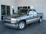 2000 Charcoal Gray Metallic Chevrolet Silverado 1500 LS Extended Cab #26399064