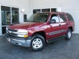 2004 Sport Red Metallic Chevrolet Tahoe LS #26399067