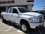2007 Bright White Dodge Ram 3500 Big Horn Quad Cab 4x4 Dually #26437072