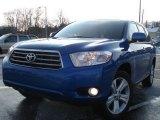 2008 Blue Streak Metallic Toyota Highlander Limited 4WD #26437149