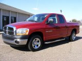 2006 Inferno Red Crystal Pearl Dodge Ram 1500 ST Quad Cab #26460468