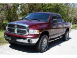 2003 Dark Garnet Red Pearl Dodge Ram 1500 SLT Quad Cab 4x4 #26460251