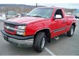 2003 Victory Red Chevrolet Silverado 1500 Z71 Regular Cab 4x4 #26460092