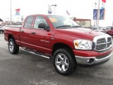 2007 Flame Red Dodge Ram 1500 Big Horn Edition Quad Cab 4x4 #26460259