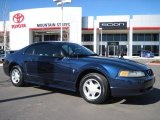 2001 True Blue Metallic Ford Mustang V6 Coupe #26505145