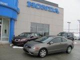2007 Galaxy Gray Metallic Honda Civic LX Coupe #26505169