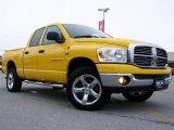2007 Detonator Yellow Dodge Ram 1500 Big Horn Edition Quad Cab 4x4 #26505204