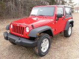 2010 Flame Red Jeep Wrangler Sport 4x4 #26505676