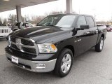2010 Brilliant Black Crystal Pearl Dodge Ram 1500 Big Horn Crew Cab 4x4 #26505684