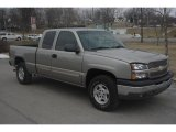 2003 Light Pewter Metallic Chevrolet Silverado 1500 LS Extended Cab 4x4 #26549449