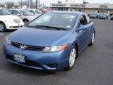 2007 Atomic Blue Metallic Honda Civic EX Coupe #26548997