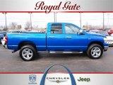 2007 Electric Blue Pearl Dodge Ram 1500 Big Horn Edition Quad Cab 4x4 #26549039