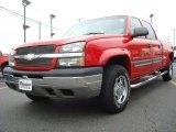 2003 Victory Red Chevrolet Silverado 1500 HD Crew Cab #26549185