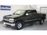 2002 Onyx Black Chevrolet Silverado 1500 LS Crew Cab 4x4 #26549399