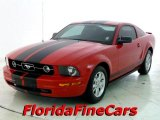 2007 Torch Red Ford Mustang V6 Deluxe Coupe #26595130