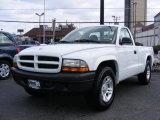 2003 Bright White Dodge Dakota SXT Regular Cab #26595703