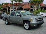 2007 Graystone Metallic Chevrolet Silverado 1500 LTZ Crew Cab 4x4 #26595138
