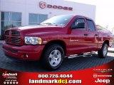 2004 Flame Red Dodge Ram 1500 Laramie Quad Cab #26595276