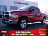 2005 Flame Red Dodge Ram 1500 SLT Quad Cab #26595277