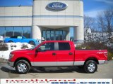 2010 Vermillion Red Ford F150 XLT SuperCrew 4x4 #26595018