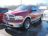 2010 Inferno Red Crystal Pearl Dodge Ram 1500 Laramie Crew Cab 4x4 #26595726