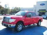 2010 Vermillion Red Ford F150 XLT SuperCrew 4x4 #26595164