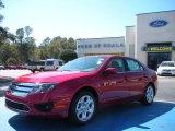 2010 Sangria Red Metallic Ford Fusion SE #26595167
