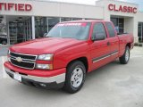 2006 Victory Red Chevrolet Silverado 1500 LS Extended Cab #26595603