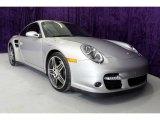 2007 Arctic Silver Metallic Porsche 911 Turbo Coupe #26595440