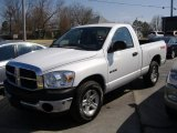 Bright White Dodge Ram 1500 in 2008