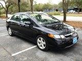 2007 Nighthawk Black Pearl Honda Civic EX Sedan #26594925