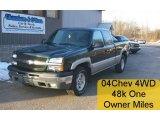 2004 Dark Green Metallic Chevrolet Silverado 1500 Z71 Extended Cab 4x4 #26595383