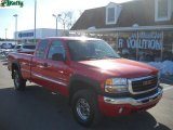 2006 Fire Red GMC Sierra 2500HD SLE Extended Cab 4x4 #26595390