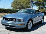2007 Windveil Blue Metallic Ford Mustang V6 Premium Convertible #26595217