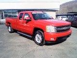 2007 Victory Red Chevrolet Silverado 1500 LT Z71 Extended Cab 4x4 #26594956