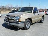 2004 Sandstone Metallic Chevrolet Silverado 1500 LS Regular Cab #26595088