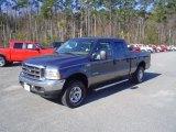 2004 True Blue Metallic Ford F250 Super Duty XLT Crew Cab 4x4 #26673398