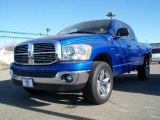 2008 Patriot Blue Pearl Dodge Ram 1500 Big Horn Edition Quad Cab 4x4 #26673103