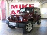 2010 Red Rock Crystal Pearl Jeep Wrangler Sahara 4x4 #26673137
