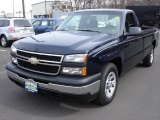 2006 Dark Blue Metallic Chevrolet Silverado 1500 Work Truck Regular Cab #26672750