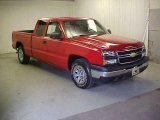 2007 Victory Red Chevrolet Silverado 1500 Classic Work Truck Extended Cab #26673357