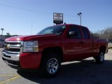2010 Victory Red Chevrolet Silverado 1500 LS Extended Cab #26673195