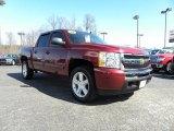 2009 Deep Ruby Red Metallic Chevrolet Silverado 1500 LT Crew Cab #26673050