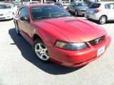 2001 Laser Red Metallic Ford Mustang V6 Coupe #26673210