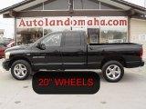 2006 Brilliant Black Crystal Pearl Dodge Ram 1500 Sport Quad Cab 4x4 #26744036